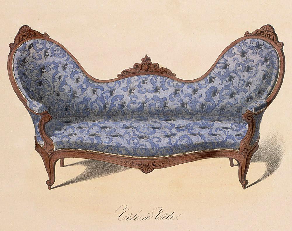 victorian settee illustration vintage pinterest. Black Bedroom Furniture Sets. Home Design Ideas