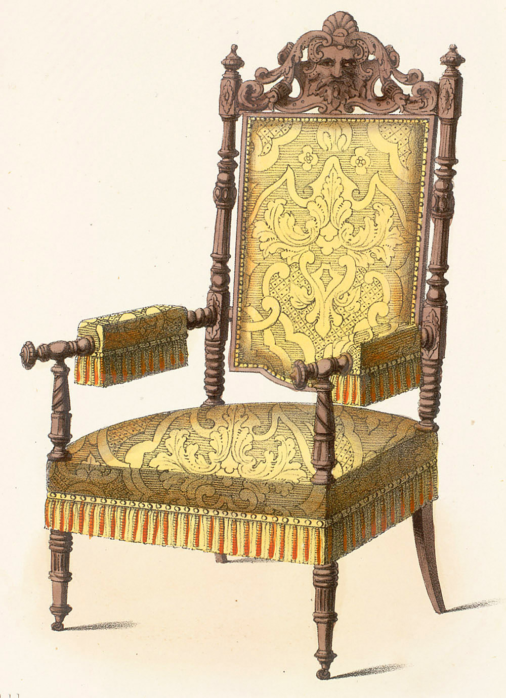 Awesome Chairs : Armchairs Style: Renaissance Revival Enlarge Image
