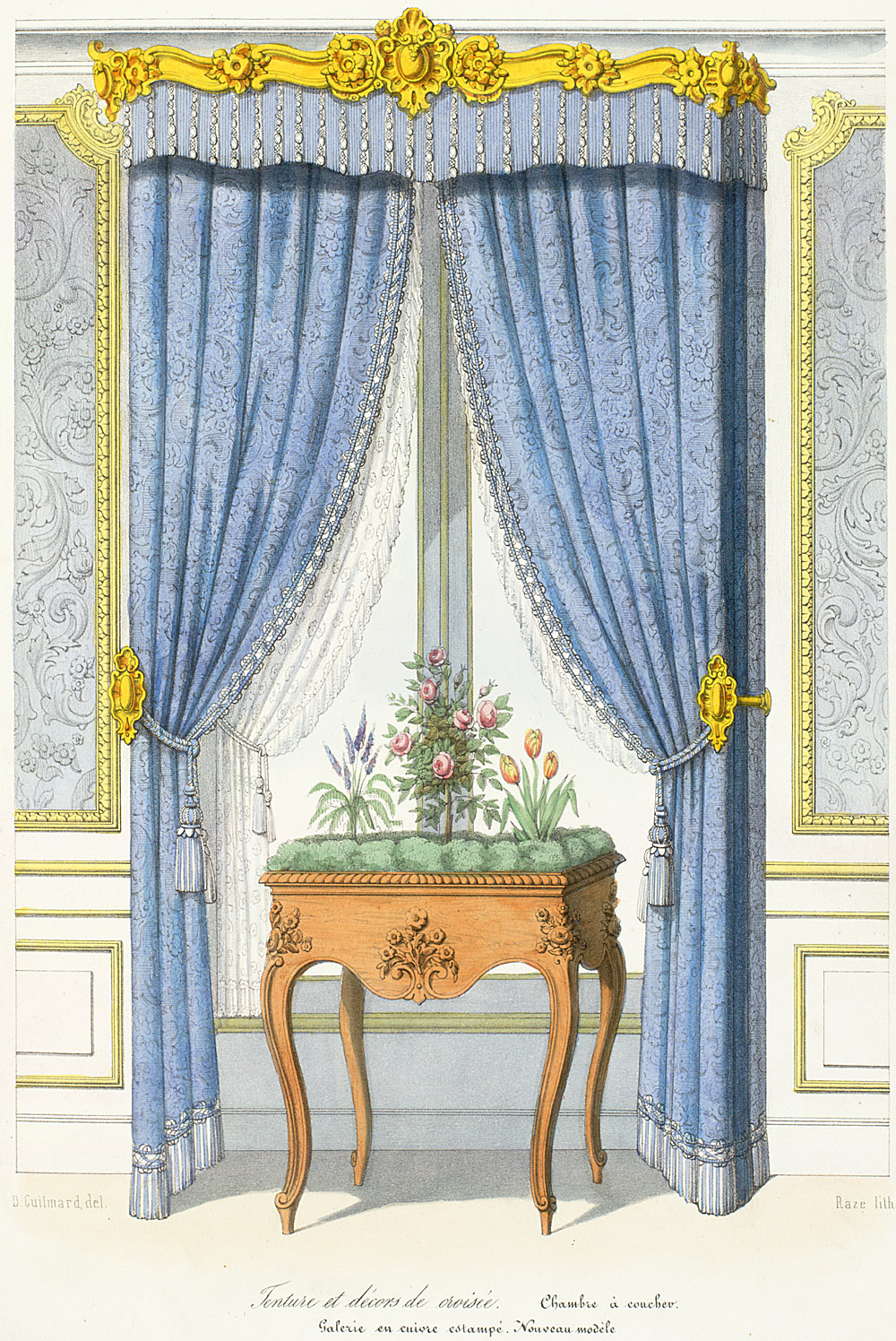 victorian revival renaissance revival renaissance window treatments and decorative accessories. Black Bedroom Furniture Sets. Home Design Ideas