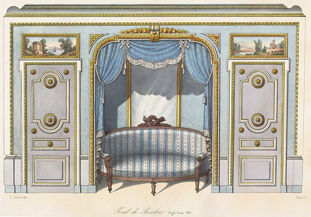 Interior elevations style louis xvi enlarge image for Garde meuble paris