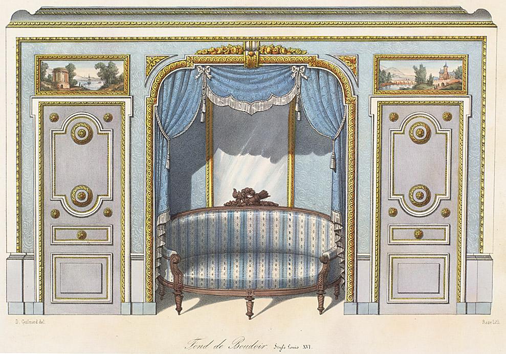 Interior elevations style louis xvi enlarge image for Garde meuble paris