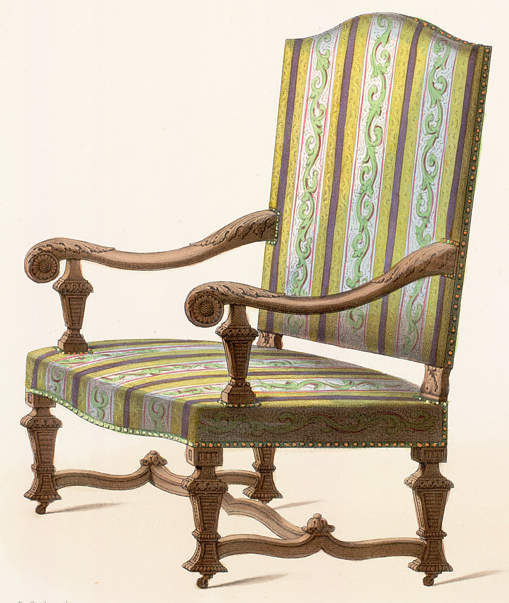 Chairs : Armchairs Style: Louis XIV Enlarge Image ...