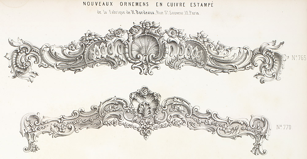 French rococo design middle 18th century trade cards for Garde meuble bordeaux