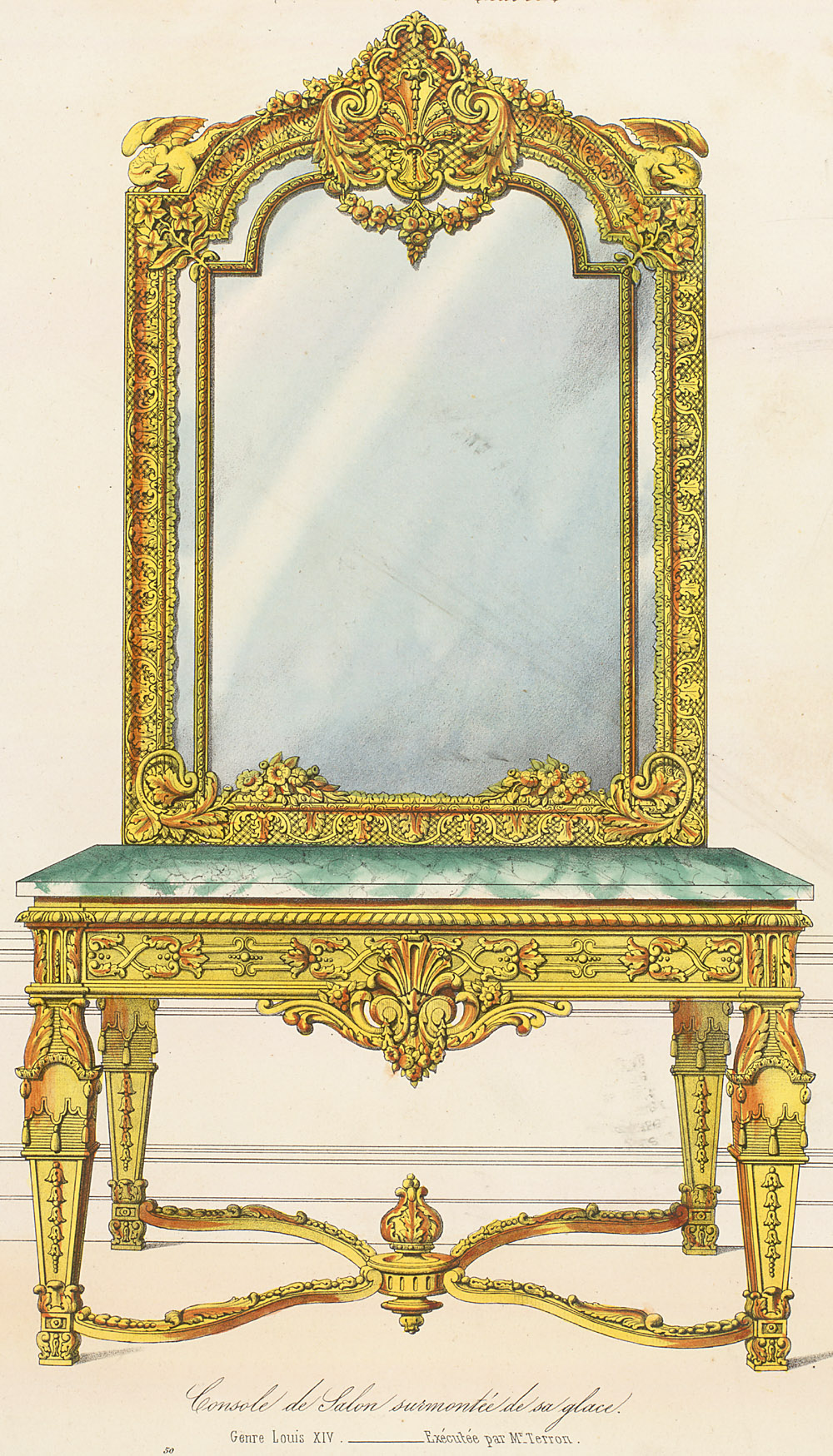 Furniture plates on pinterest rococo drawings of and for Meuble louis xiv