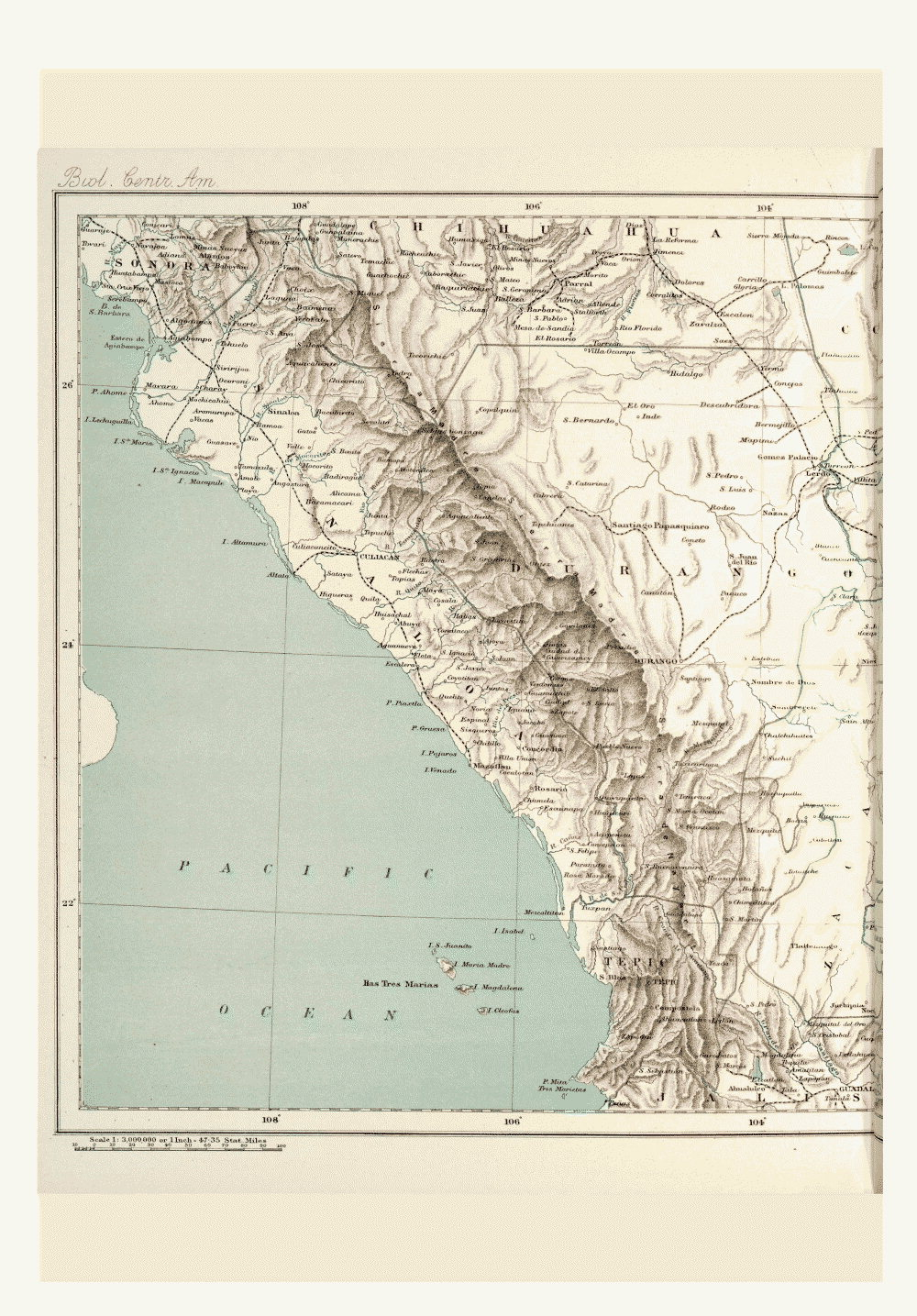 Maps of Central America,  Image number:bca_01_00_00_186