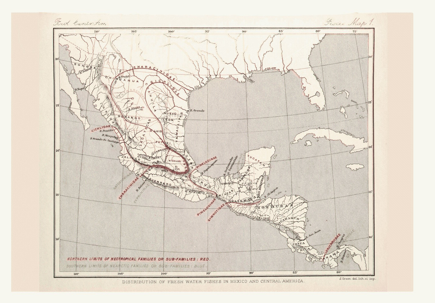 Map of Central America and Mexico,  Image number:bca_05_00_00_297