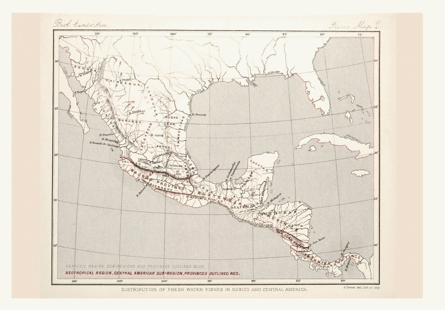 Map of Central America and Mexico,  Image number:bca_05_00_00_299