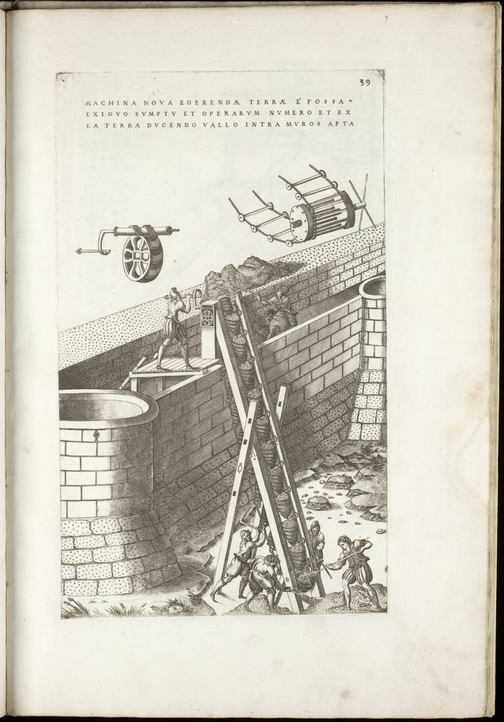 Plate 39 [Bucket chain for hauling earth],  Image number:SIL4-2-111a