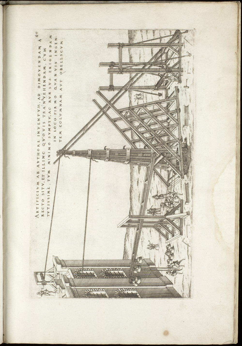 Plate 40 [Column and obelisk mover],  Image number:SIL4-2-113a