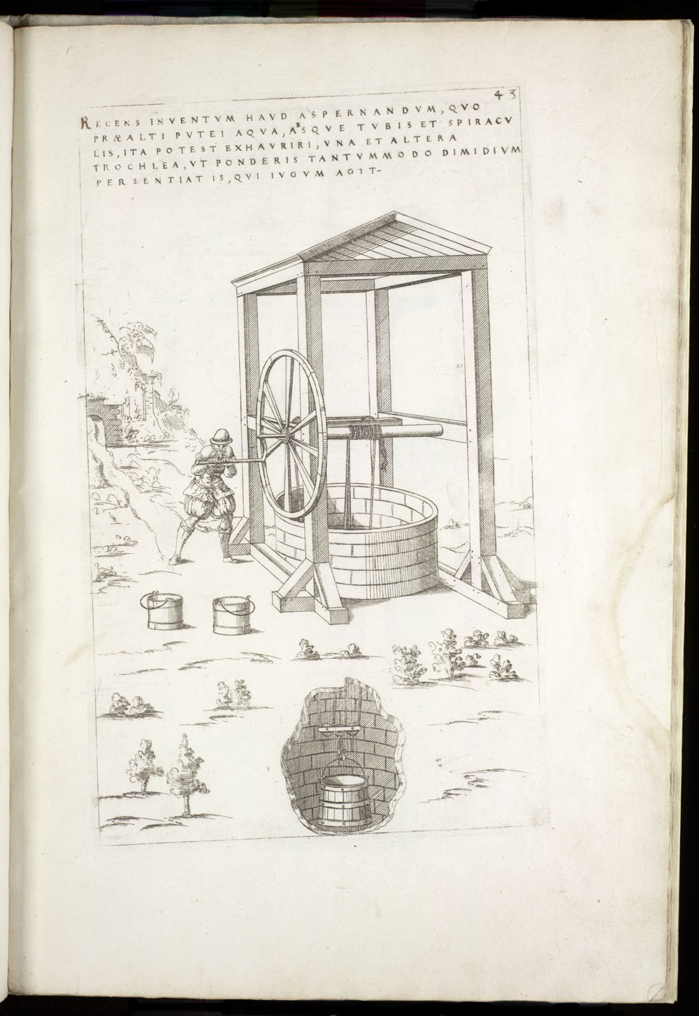 Plate 43 [Windlass for well bucket],  Image number:SIL4-2-119a
