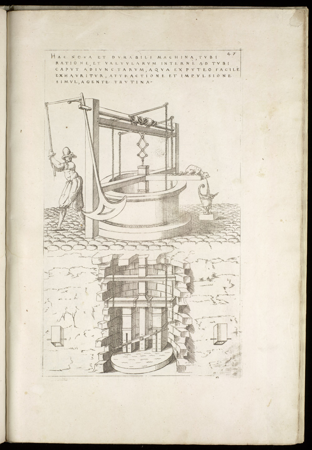 Plate 47 [Hand-powered well pump],  Image number:SIL4-2-127a
