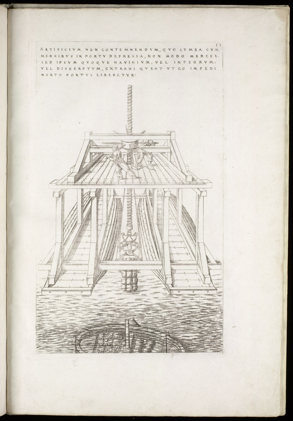 Plate 53 [Raising a sunken ship],  Image number:SIL4-2-139a