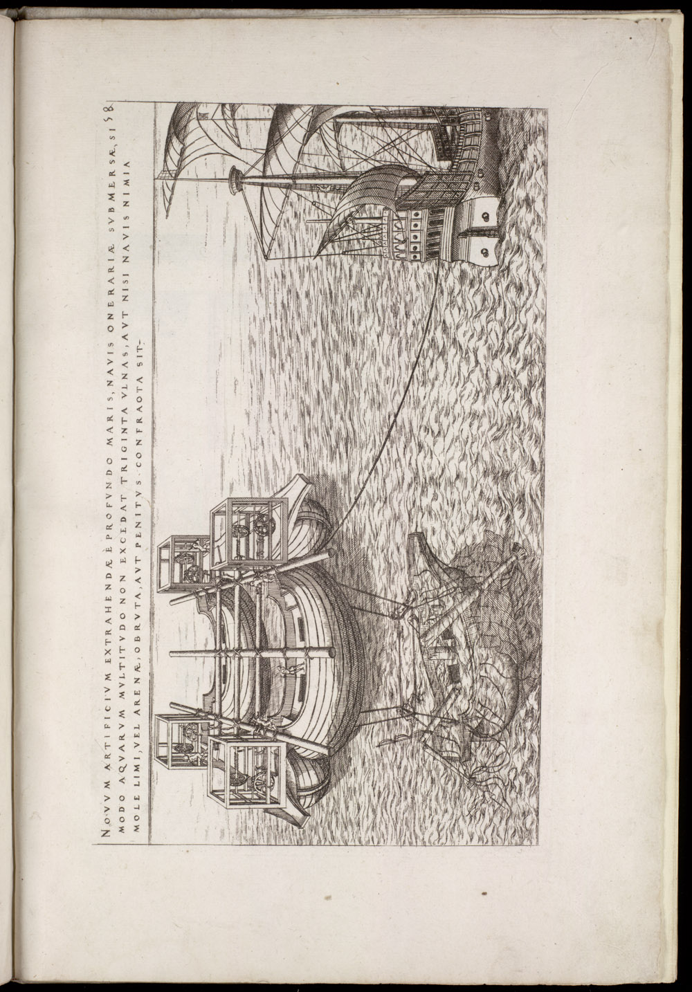 Plate 58 [Raising a sunken ship],  Image number:SIL4-2-149a