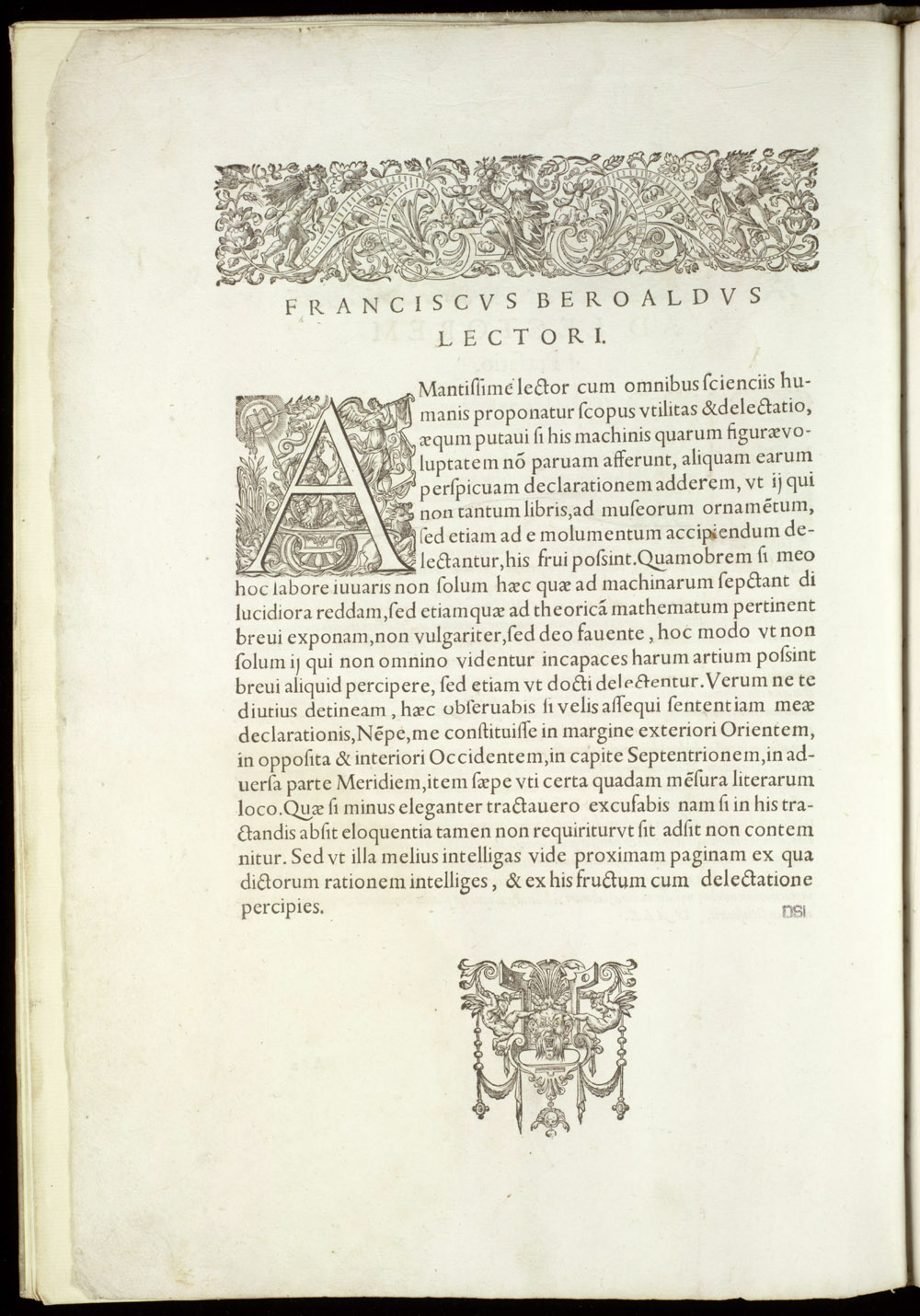 Printer's device ; Initial A,  Image number:SIL4-2-14a