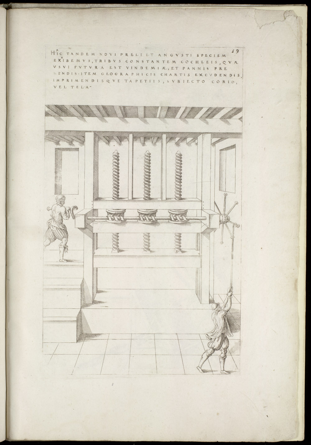 Plate 59 [Narrow press for multiple pressing and printing],  Image number:SIL4-2-151a