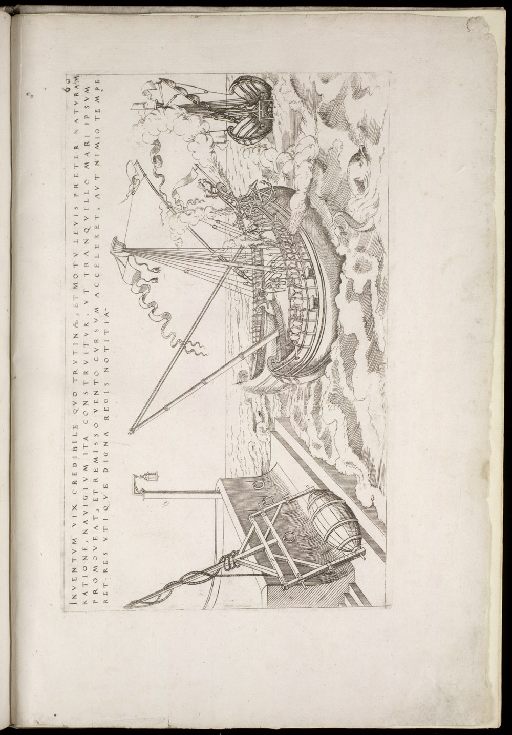 Plate 60 [Lever-driven ship with bifurcated hull],  Image number:SIL4-2-153a