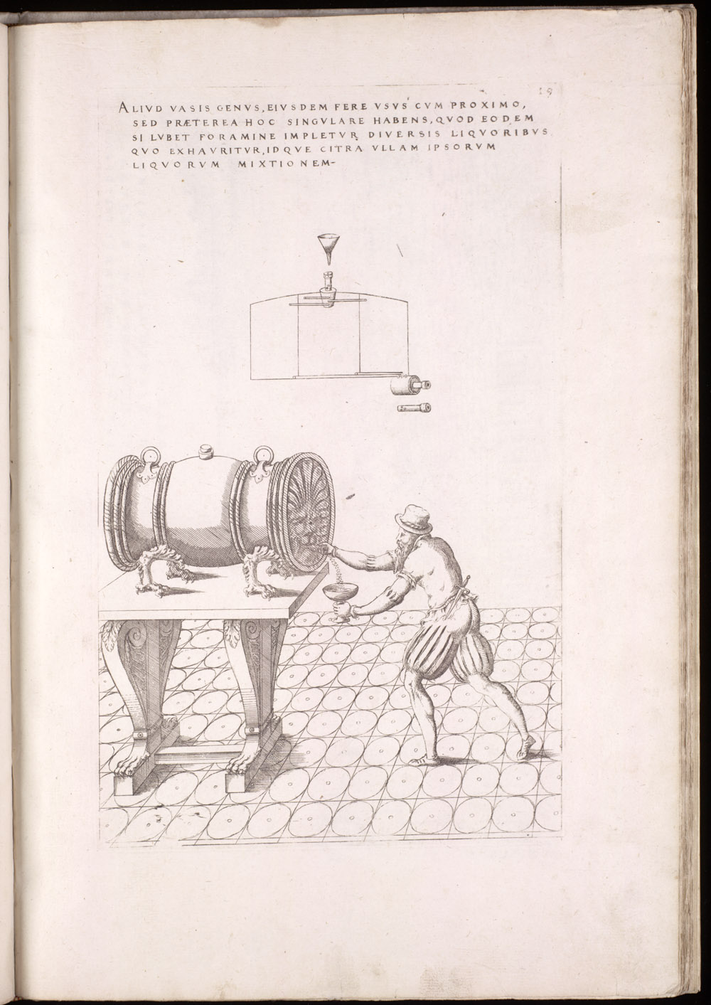 Plate 19 [Multi-liquid barrel and spigot],  Image number:SIL4-2-71a
