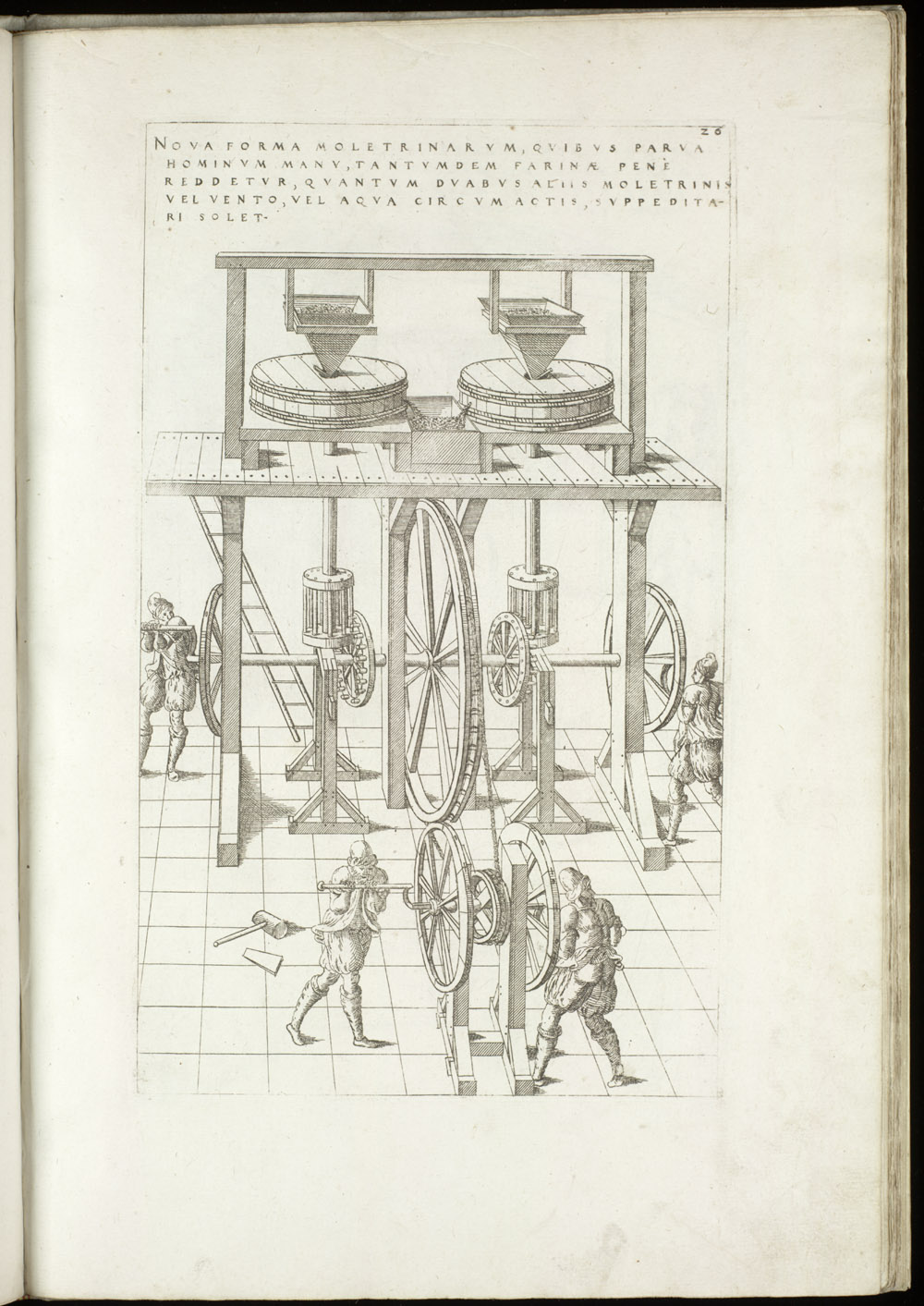 Plate 26 [Hand-cranked grist mill],  Image number:SIL4-2-85a