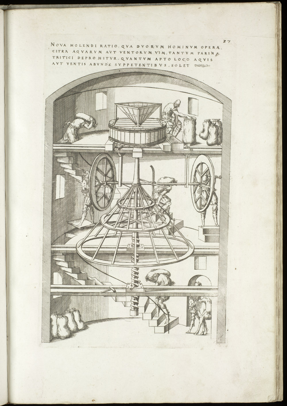 Plate 27 [Hand-cranked grist mill],  Image number:SIL4-2-87a