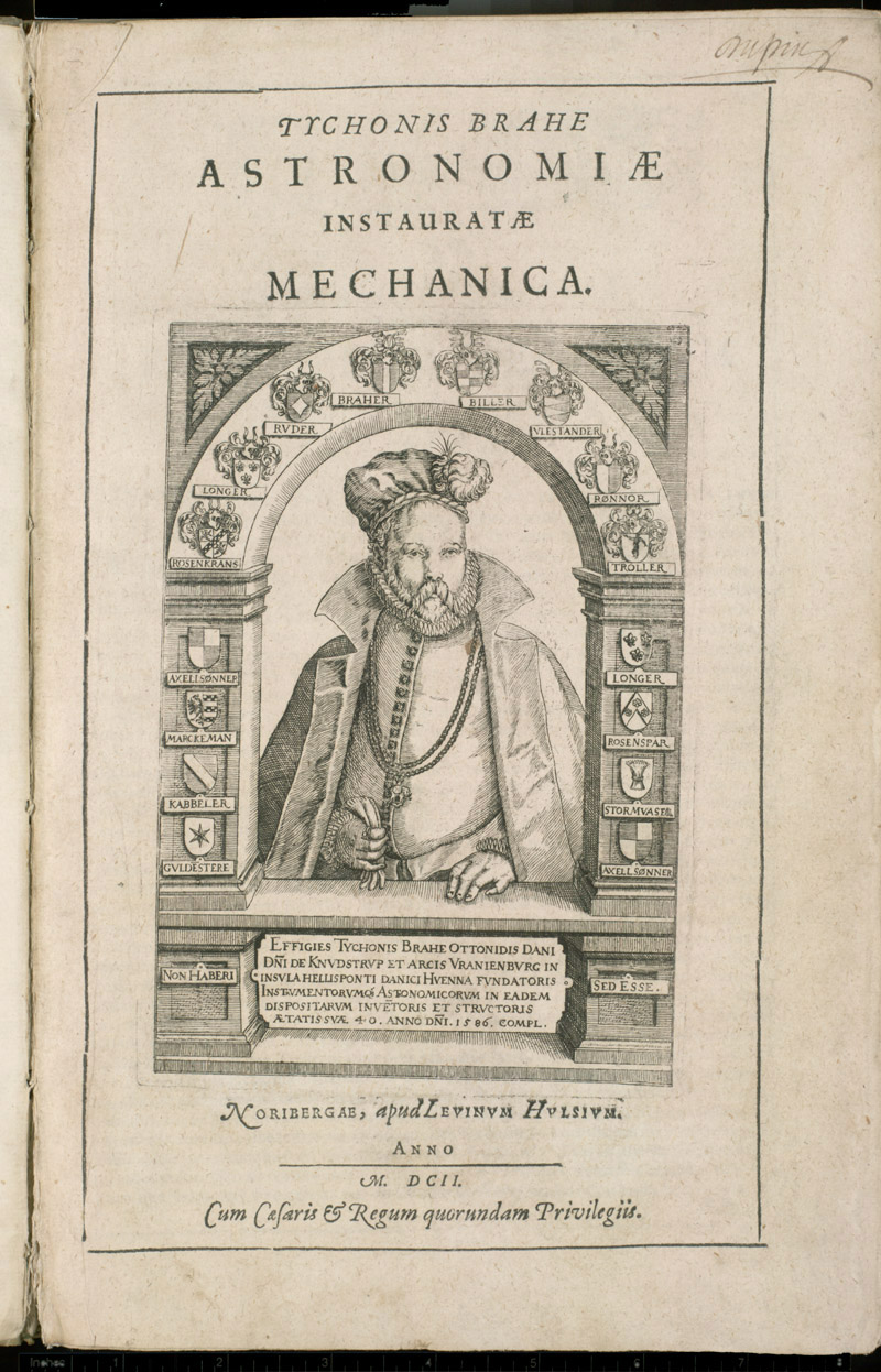 Frontispiece portrait of Tycho Brahe,  Image number:sil4-3-5a