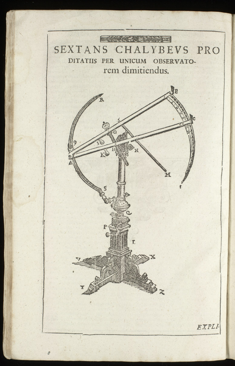 Steel sextant for measuring distances by one observer,  Image number:sil4-3-60a