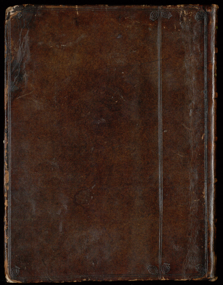 Leather bound back cover,  Image number:SIL4-1-110a