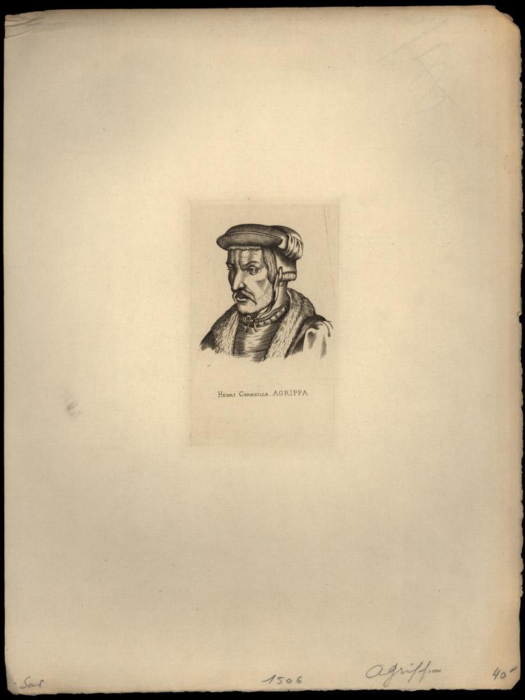 Portrait of Heinrich Cornelius Agrippa von Nettesheim,  Image number:SIL14-A1-08a