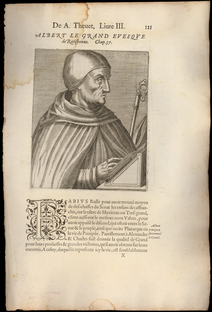 Portrait of Albertus, Magnus,  Image number:SIL14-A3-01a