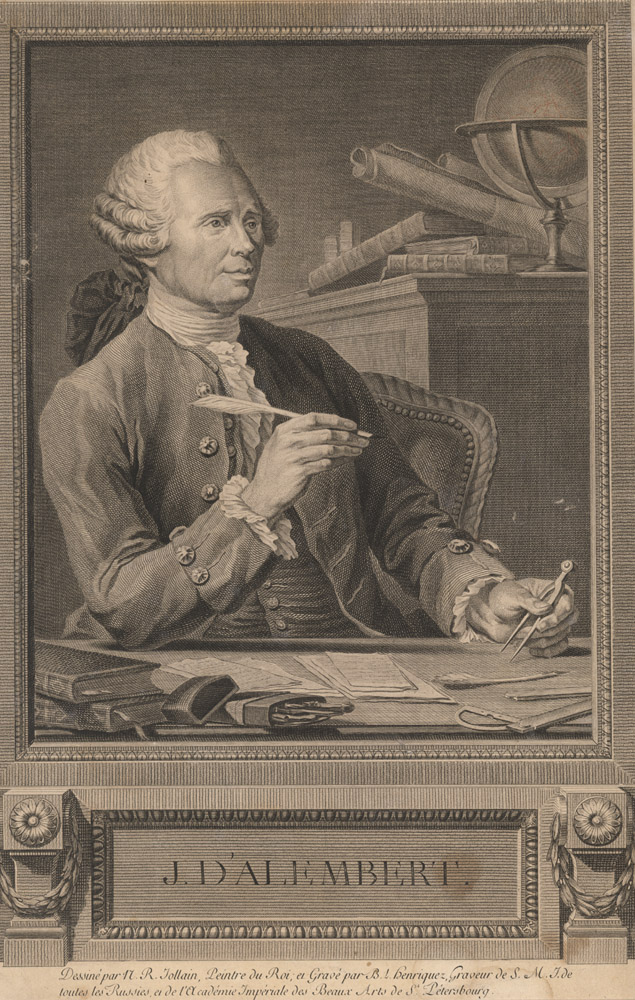 Portrait of Jean le Rond d'Alembert,  Image number:SIL14-A3-03a
