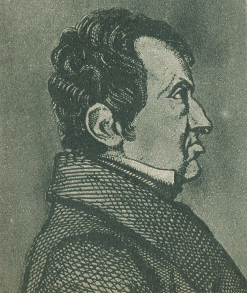 Portrait of André-Marie Ampère,  Image number:SIL14-A4-02a