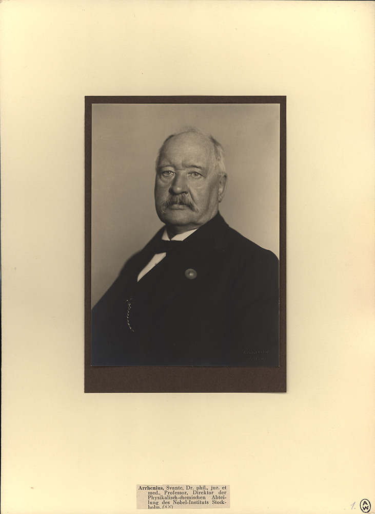 Portrait of Svante Arrhenius,  Image number:SIL14-A7-07a