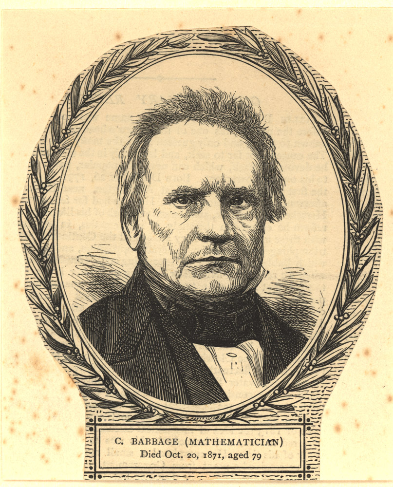 Portrait of Charles Babbage,  Image number:SIL14-B1-01a