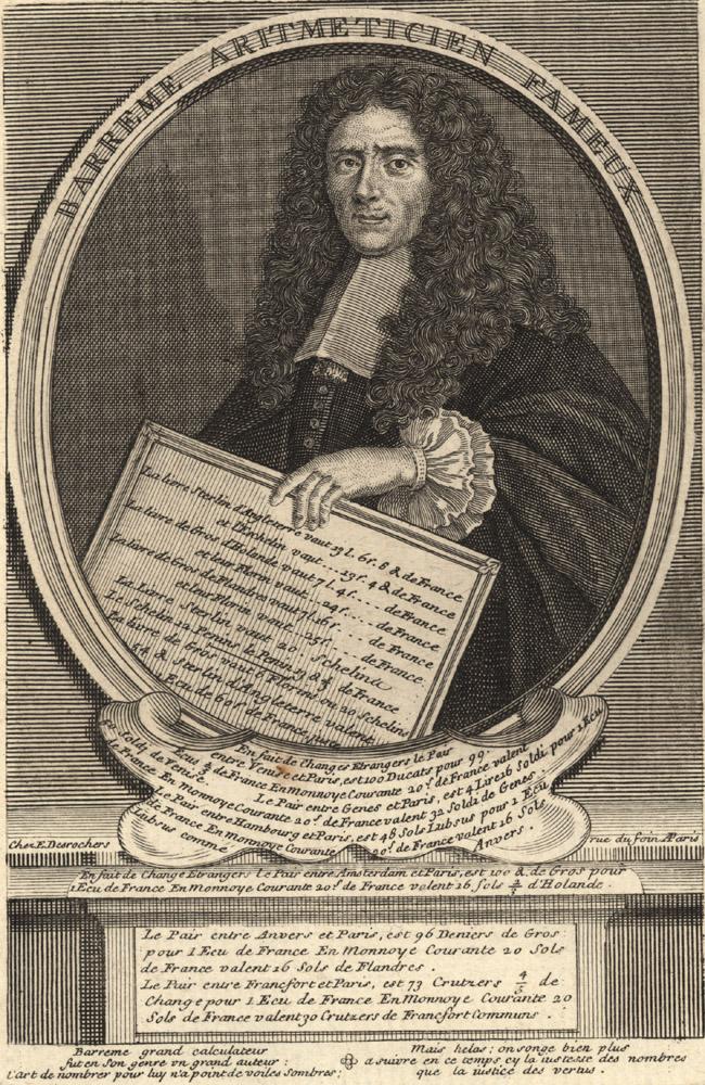 Portrait of François de Barrême,  Image number:SIL14-B2-05a