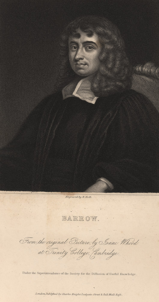 Portrait of Isaac Barrow,  Image number:SIL14-B2-06a