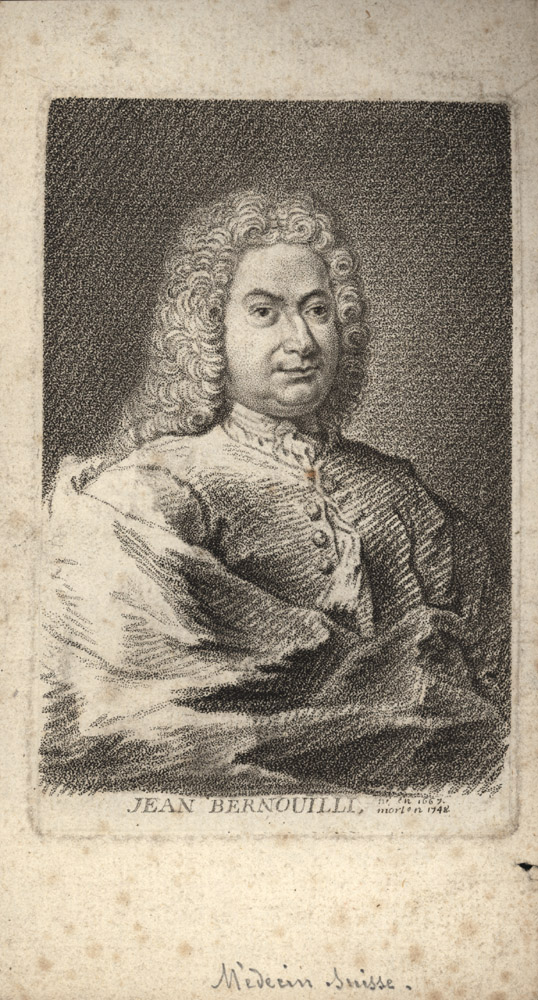 Portrait of Jean Bernoulli,  Image number:SIL14-B3-04a