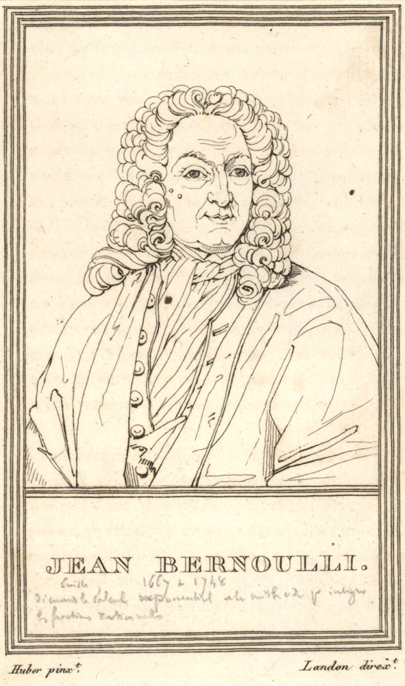 Portrait of Jean Bernoulli,  Image number:SIL14-B3-05a