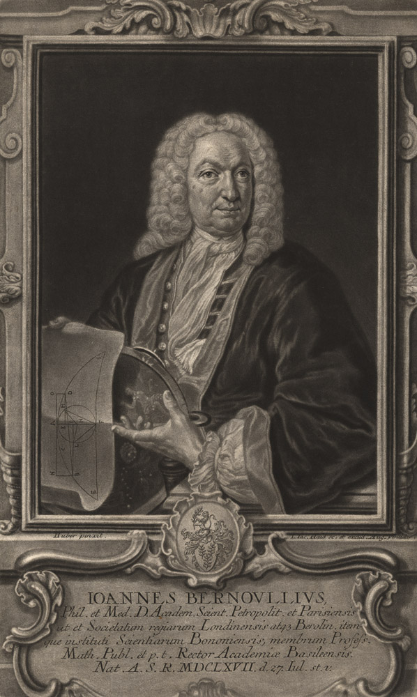 Portrait of Jean Bernoulli,  Image number:SIL14-B3-08a