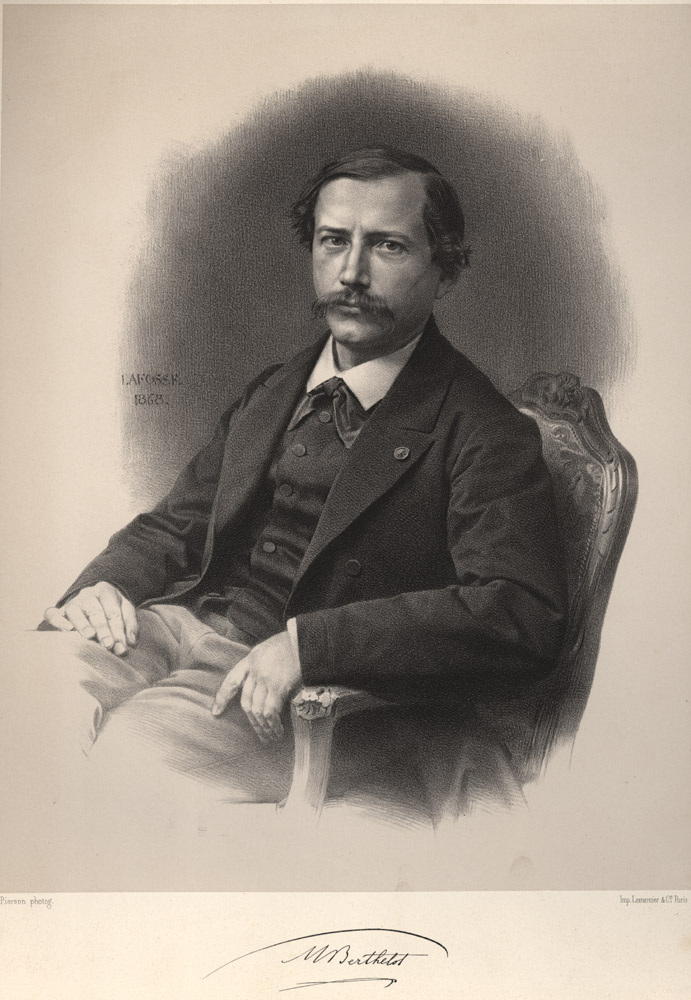Portrait of Pierre Eugène Marcellin Berthelot,  Image number:SIL14-B3-09a