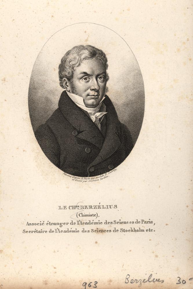 Portrait of Jons Jakob Berzelius,  Image number:SIL14-B3-15a