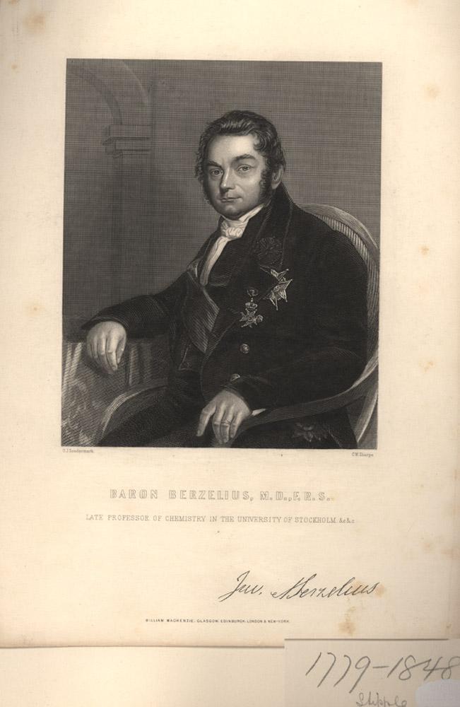 Portrait of Jons Jakob Berzelius,  Image number:SIL14-B3-16a