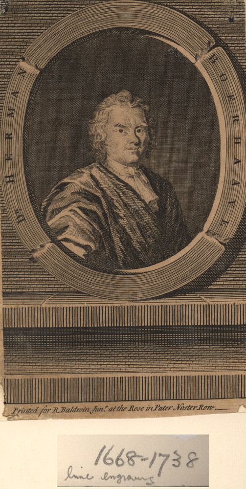 Portrait of Hermann Boerhaave,  Image number:SIL14-B5-02a