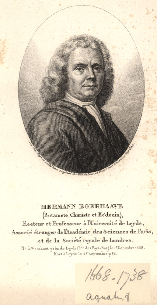 Portrait of Hermann Boerhaave,  Image number:SIL14-B5-05a