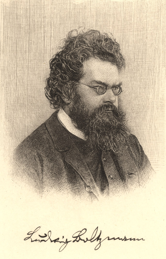 Portrait of Ludwig Boltzmann,  Image number:SIL14-B5-06a