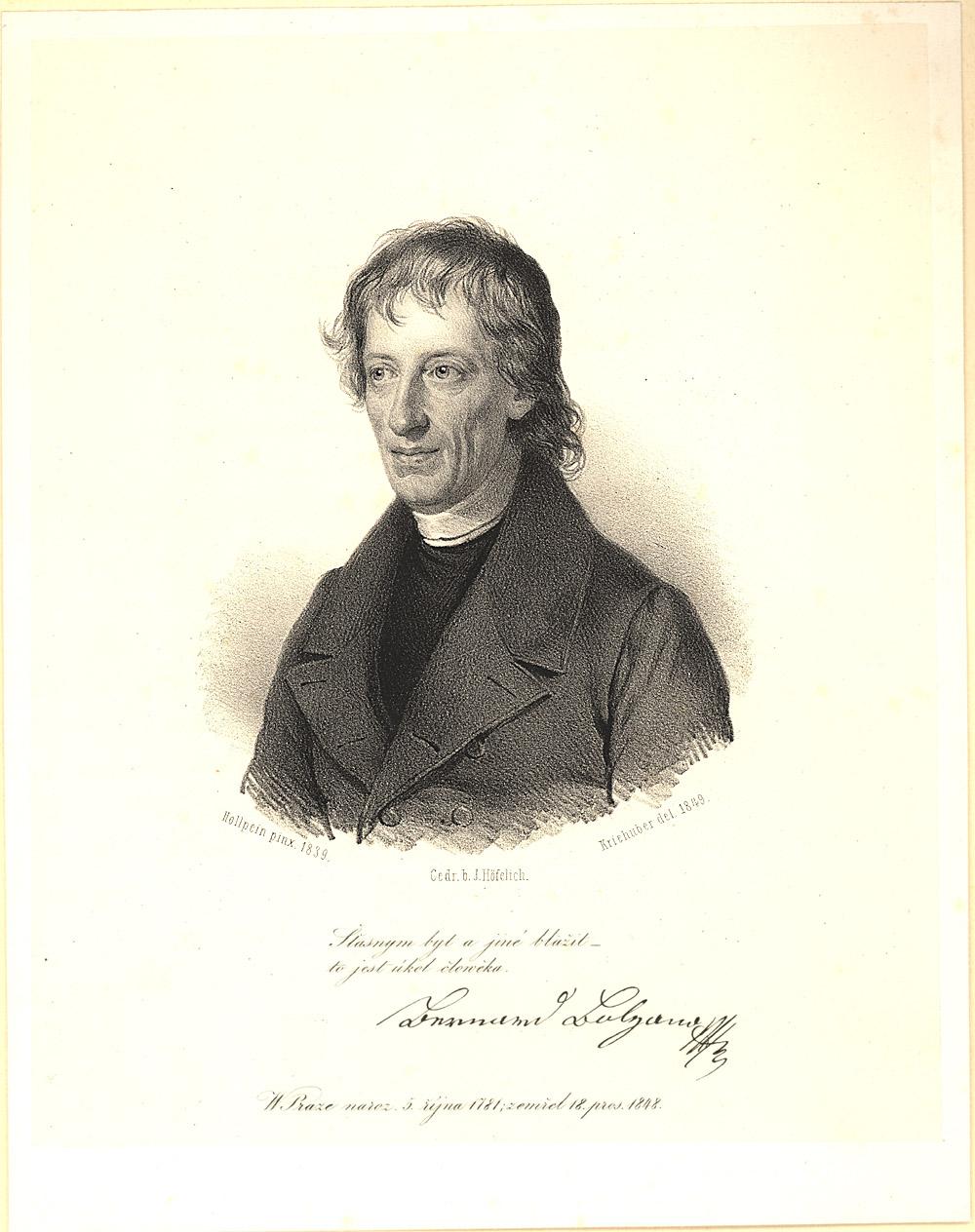 Portrait of Bernard Bolzano,  Image number:SIL14-B5-07a