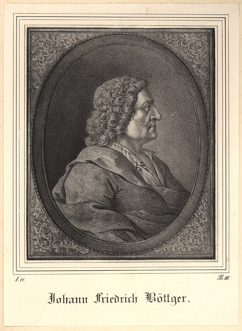 Portrait of Johann Friedrich Böttger,  Image number:SIL14-B5-12a