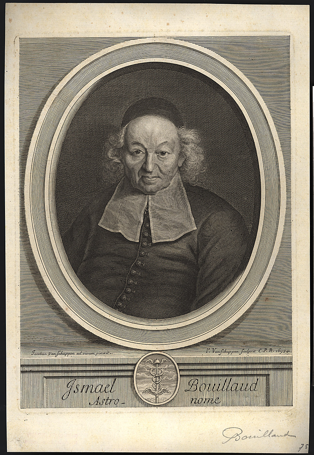 Portrait of Ismael Boulliau,  Image number:SIL14-B6-02a