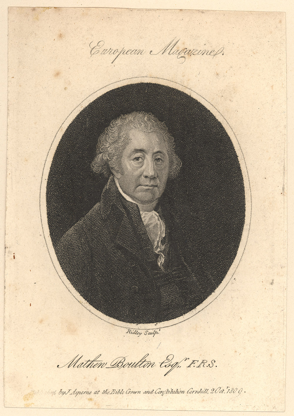 Portrait of Matthew Boulton,  Image number:SIL14-B6-03a