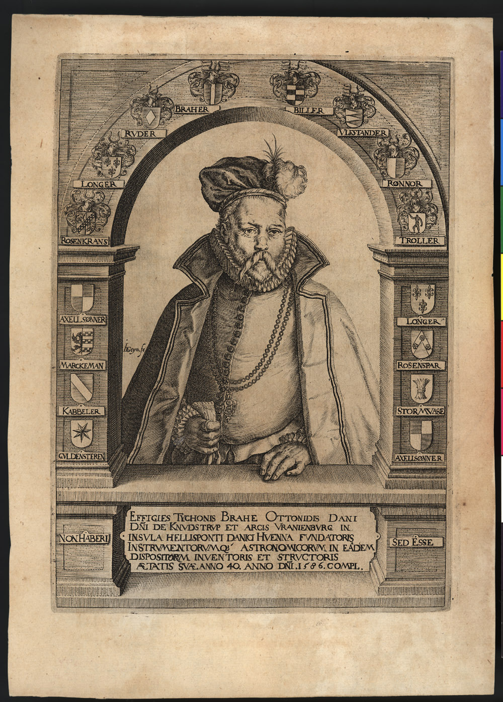 Portrait of Tycho Brahe,  Image number:SIL14-B7-03a