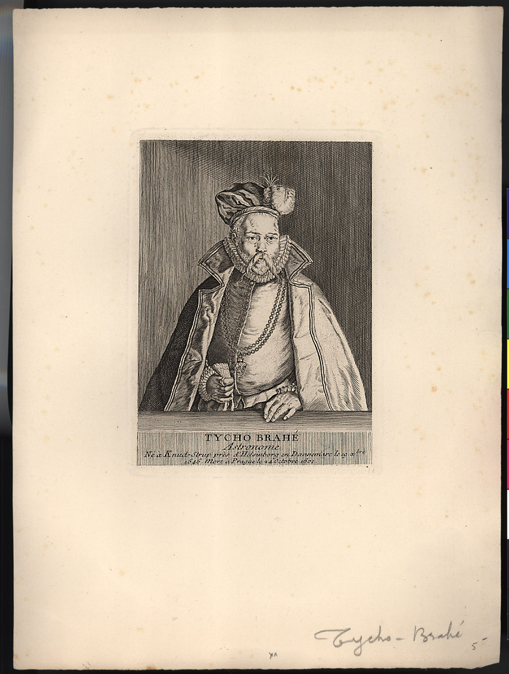 Portrait of Tycho Brahe,  Image number:SIL14-B7-04a