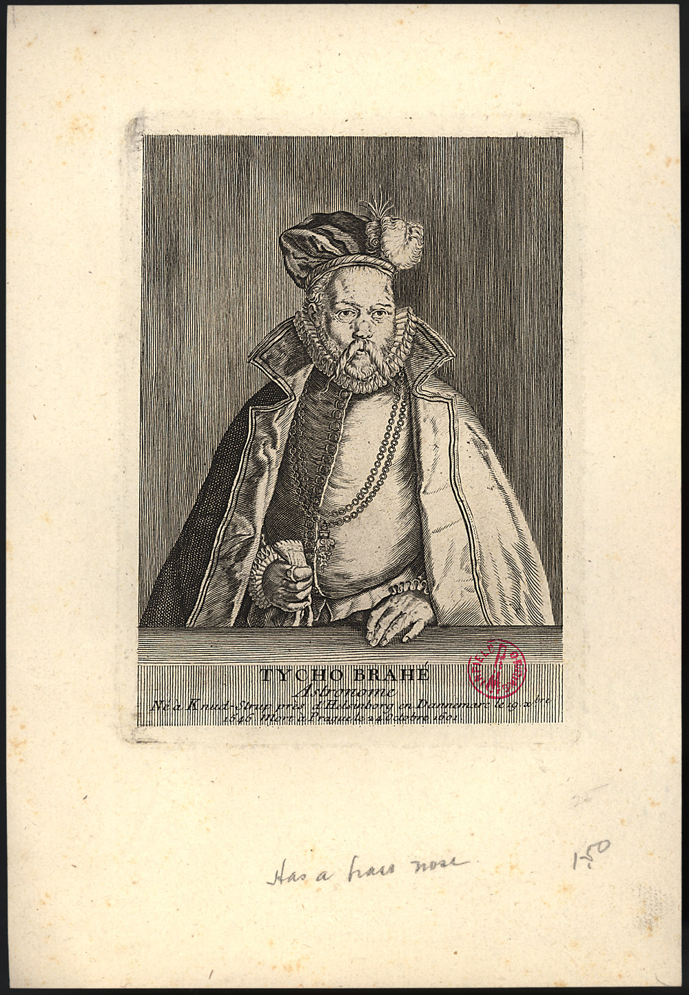 Portrait of Tycho Brahe,  Image number:SIL14-B7-05a